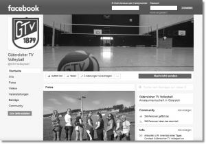 GVT Volleyball auf Facebook